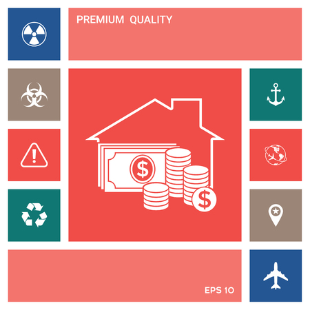 Home insurance icon . Elements for your design