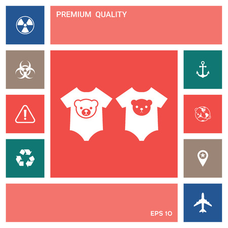 Baby rompers icon . Elements for your design