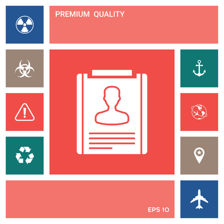 Resume icon symbol . Elements for your design 일러스트