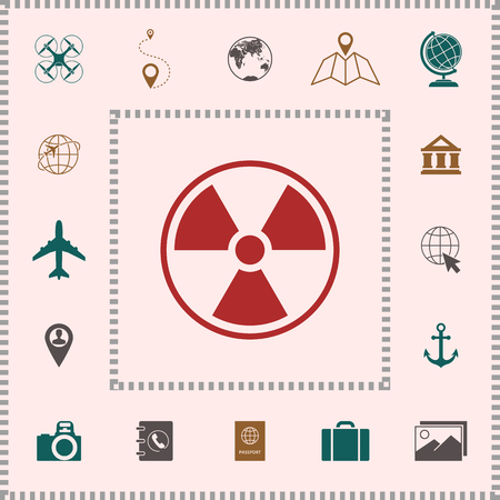 Ionizing radiation icon . Elements for your design