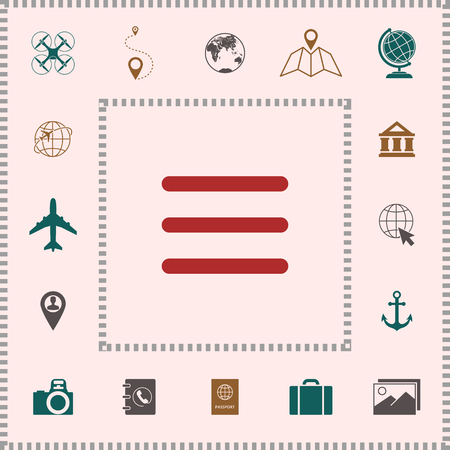 Menu Icon symbol . Elements for your design