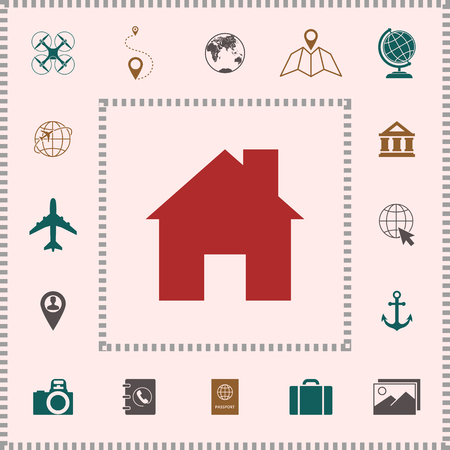 Home icon symbol . Elements for your design