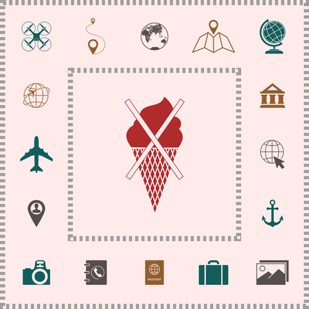No ice cream symbol icon . Elements for your design