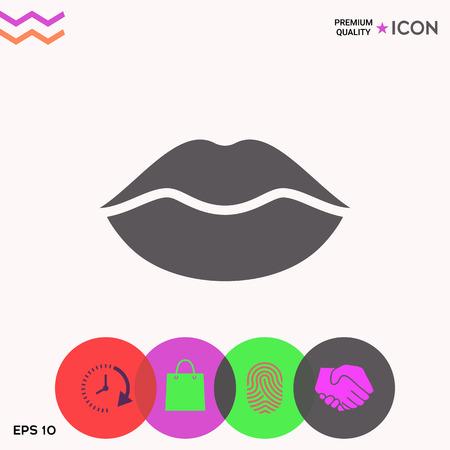 Lips symbol icon Ilustracje wektorowe