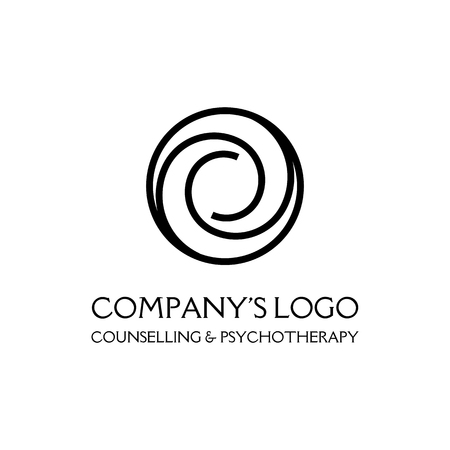 Logo - two spirals in circle - a symbol of interaction, new ideas, development, enlightenment and wisdom.