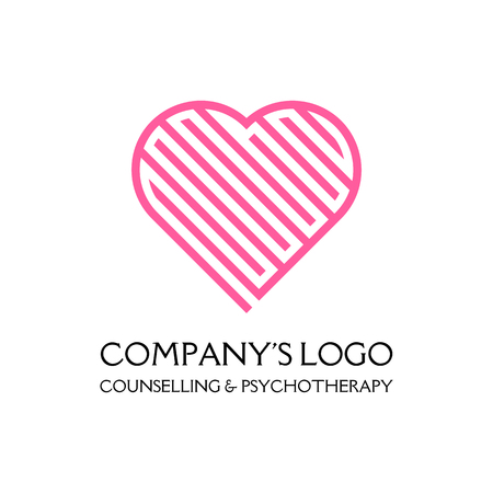 Logo - a labyrinth in the heart - a symbol of the search for love, solving problems, happiness.