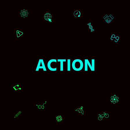 Action button symbol. Element for your design.
