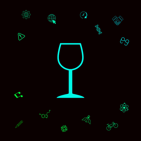 Wineglass symbol icon . Graphic elements for your designt