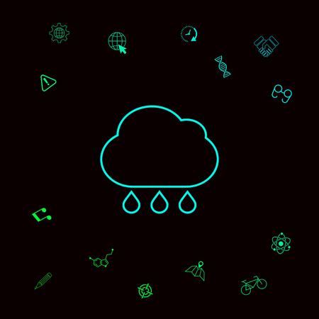 Cloud rain line icon. Element for your design