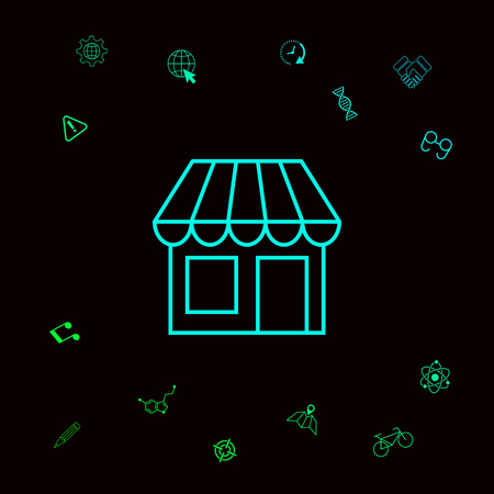 Store symbol icon . Graphic elements for your designt