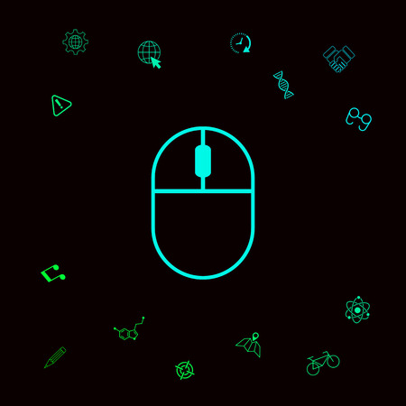 Computer mouse symbol icon. Element for your design