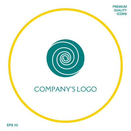 Logo - two thin spirals in a circle - a flower bud - a symbol of interaction, growth, development, enlightenment, beauty and wisdom.