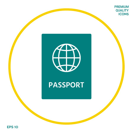 Passport icon symbol. Graphic elements for your design
