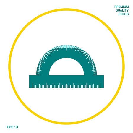 Symbol für Winkelmesser. Grafische Elemente für Ihr Design Vektorgrafik