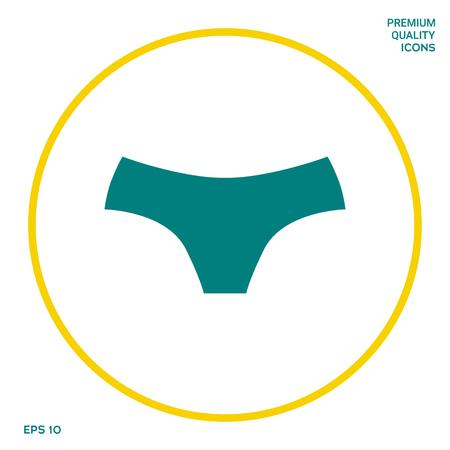 Women panties, the silhouette. Menu item in the web design Stock fotó - 110906774