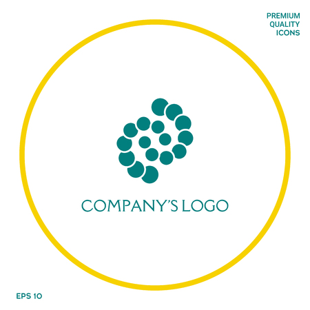 Logo - two spirals, chains of circles - a symbol of interaction, new ideas, development, enlightenment and wisdom.