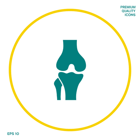 Knee joint icon. Graphic elements for your design