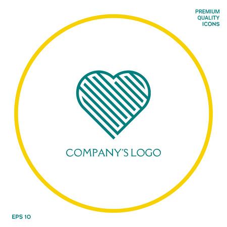 Logo - een labyrint in het hart - een symbool van de zoektocht naar liefde, het oplossen van problemen, geluk. Logo