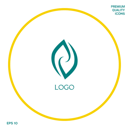 Logotype - two hemispheres of the brain, two leaves, two spirals, fire tongues - a symbol of interaction, psychological assistance and support. Logo