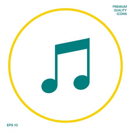 Music icon symbol. Graphic elements for your design Banco de Imagens