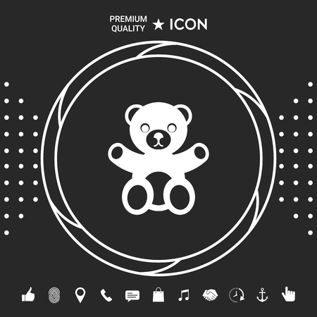 Teddy bear icon . Signs and symbols - graphic elements for your designt Stock fotó - 110895376
