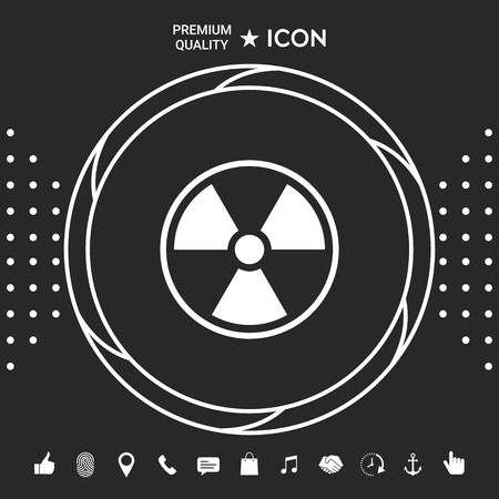 Ionizing radiation icon . Graphic elements for your design Imagens - 111783433