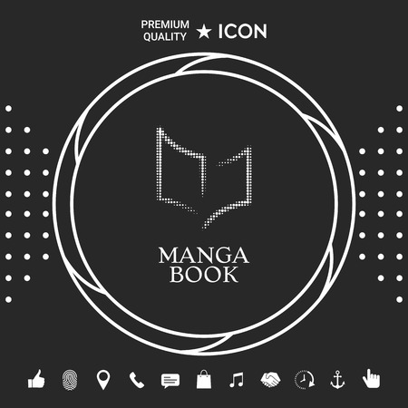 Elegant halftone icon with book symbol Ilustrace