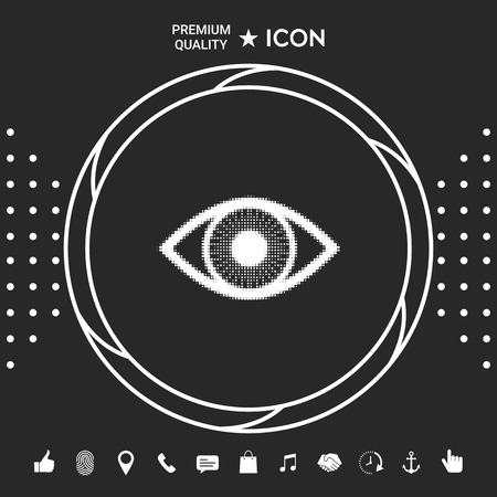 Eye - halftone icon . Graphic elements for your design