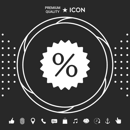 Sign, percent symbol discount icon . Graphic elements for your design