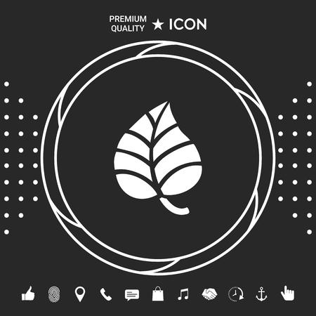 Leaf symbol. Illustration