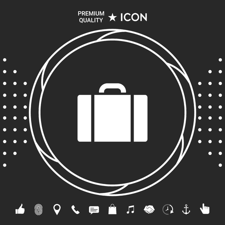 Travel bag icon . Graphic elements for your design