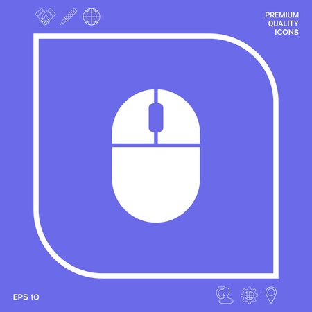 Computer mouse icon. Element for your design