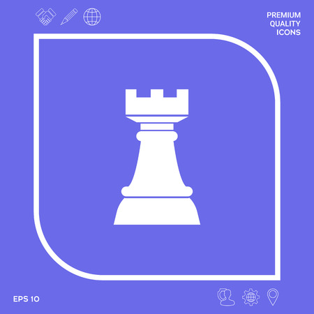 Chess Rook. Strategy icon. Graphic elements for your design Stockfoto - 111228106