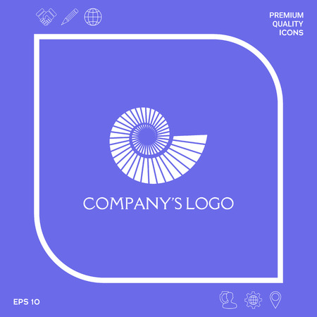 Logo spiral, shell - a symbol of development, enlightenment and wisdom. Logo
