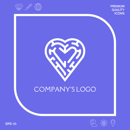 Logo - a labyrinth in the heart - a symbol of the search for integrity, wisdom and happiness.