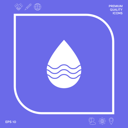Drop icon with waves. Element for your design