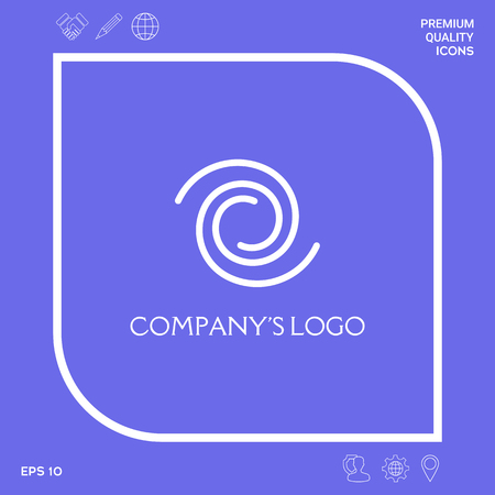 Logo - two spirals - a symbol of interaction, new ideas, development, enlightenment and wisdom.
