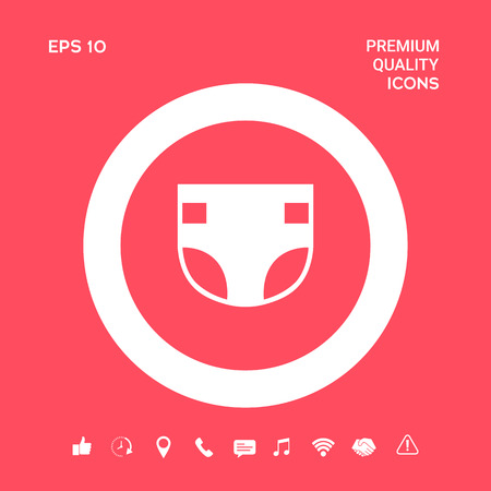 Nappy icon symbol. Graphic elements for your design
