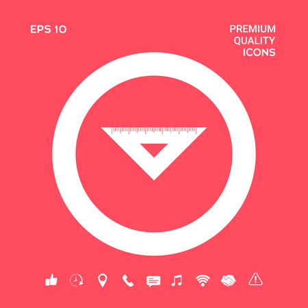 The ruler triangle icon. Graphic elements for your design