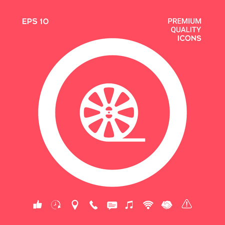 Reel film icon. Graphic elements for your design