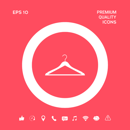 Clothes Hanger icon. Element for your design