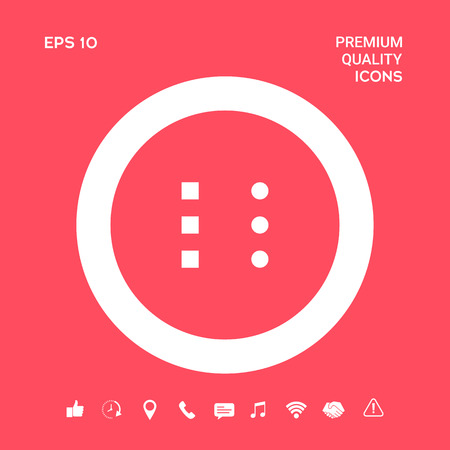 Menu icon for mobile apps and websites. Graphic elements for your design 写真素材 - 111227559