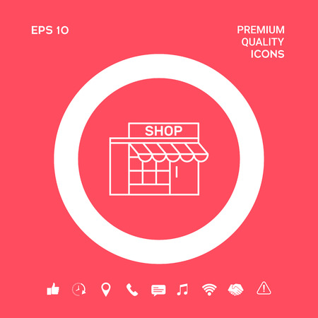 Store icon symbol. Graphic elements for your design