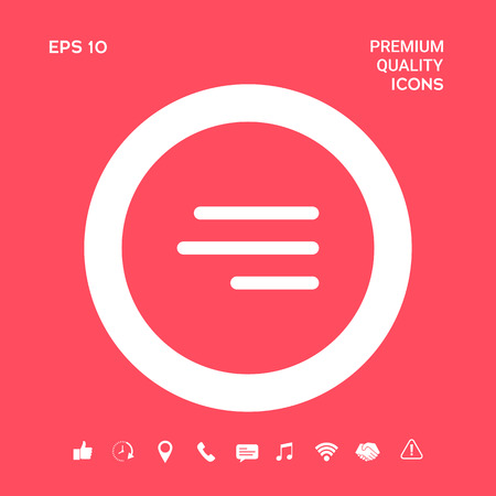 Modern hamburger menu icon for mobile apps and websites. Graphic elements for your design 写真素材