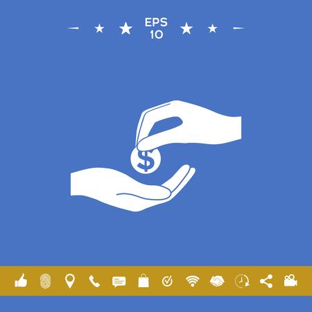 Receiving money icon Vecteurs