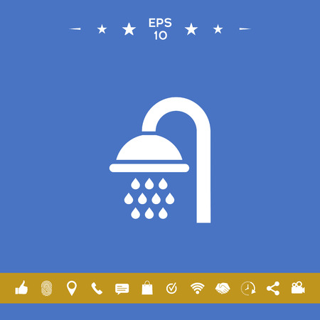 Shower icon . Signs and symbols for your designt Illustration