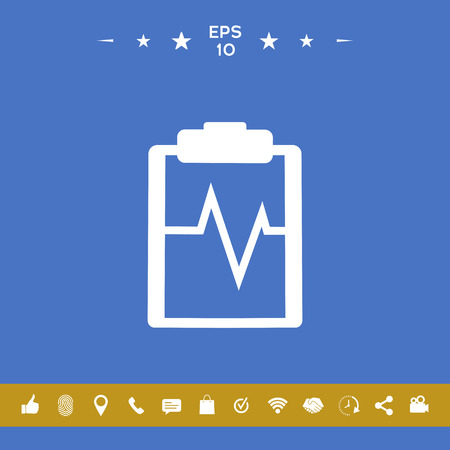 Electrocardiogram icon symbol Stock Photo