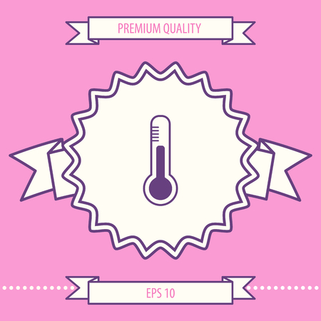 Thermometer icon symbol. Graphic elements for your design