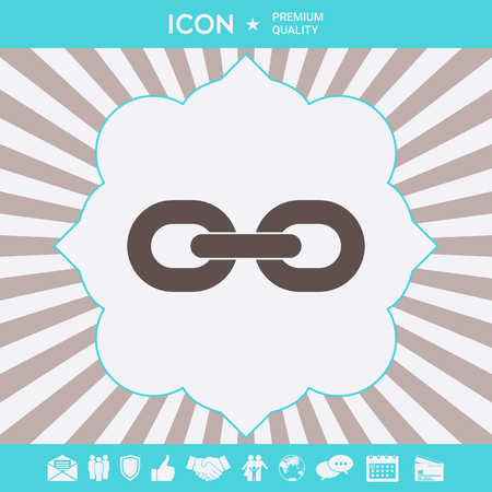 Link chain icon . Signs and symbols for your designt