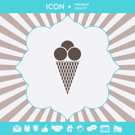 Ice cream icon . Signs and symbols for your designt